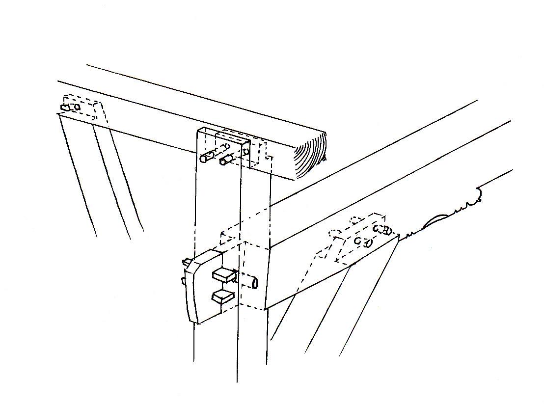 reconstructie van de verbindingen van het ankerbalkgebint